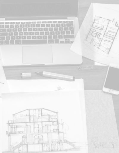 architect, work, desk, drawings, macbook